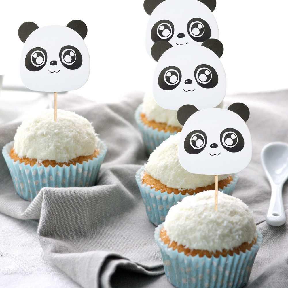 ... Kids 1st Birthday Party Decoration Panda Party Supplies panda Bear Cake  Topper Balloons Garland Baby Shower