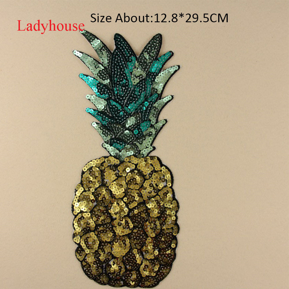 Iron on Pineapple patch Sequin patches