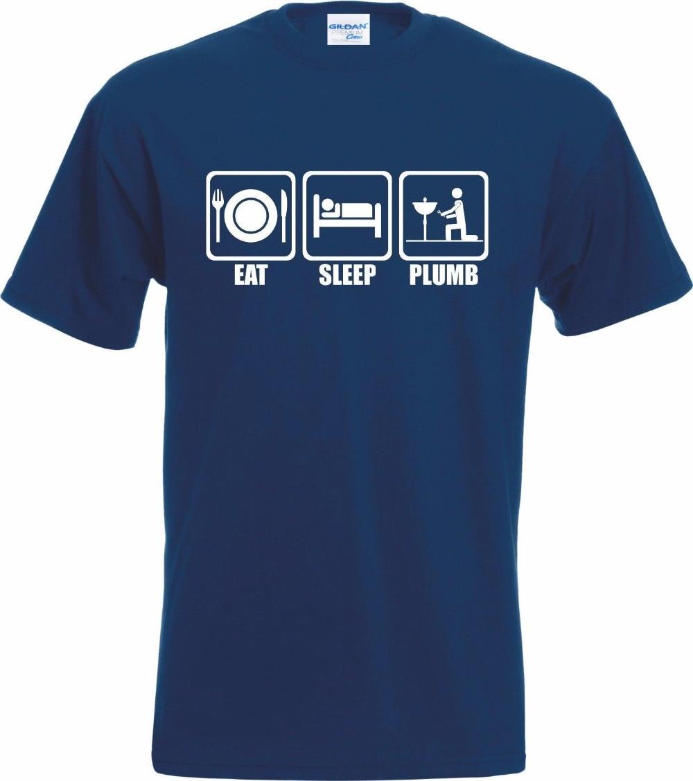 0424a3b9 Brand New 2019 Summer Men's Photo T-Shirt Sleeping Pencil Plumber T-Shirt  Fun