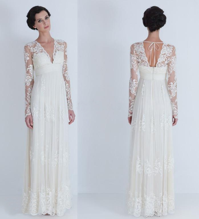 2014 vintage elegant lace sheath wedding dresses v neck for Plus size sheath wedding dress