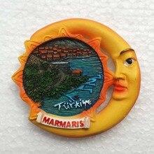 Горячая Распродажа Мармарис Турция солнце и луна магнит на холодильник туристические сувенирные магниты на холодильник домашний декор магнитные наклейки
