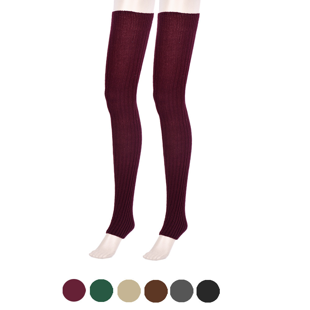 Japanese-Candy 2016 Fashionable Thigh High Over Knee Leg Warmers Hemp Boot Cuffs Hosiery Sobretudo Feminino #OR