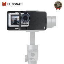 FUNSNAP aluminium interrupteur montage stabilisateur de caméra pour GoPro Hero 6/5/4 mouvement caméra adaptateur plaque portable cardan accessoire