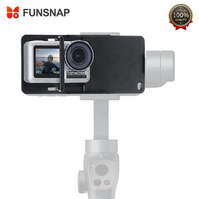 Funsnap estabilizador de câmera para gopro hero, acessório adaptador de câmera de mão, de alumínio para gopro hero 6/5/4