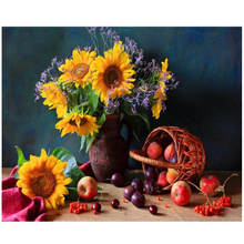 Paint By Number,Abstract Picture,Sunflower,Canvas Painting Coloring Numbers