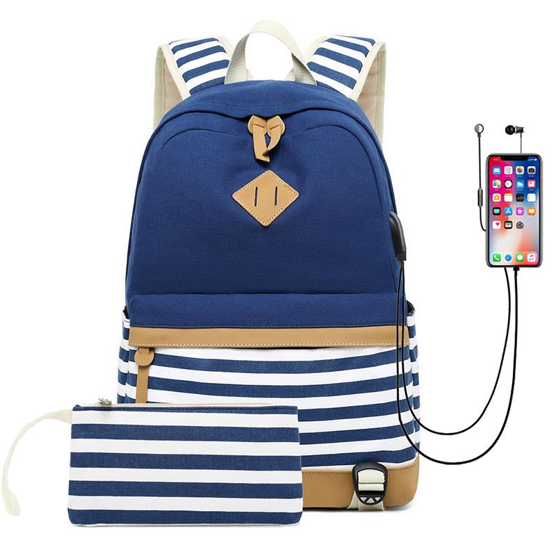 2019 New School Bags For Girls Children Schoolbag Large Capacity School Backpack Usb Charging Satchel Kids Book Bag Mochila