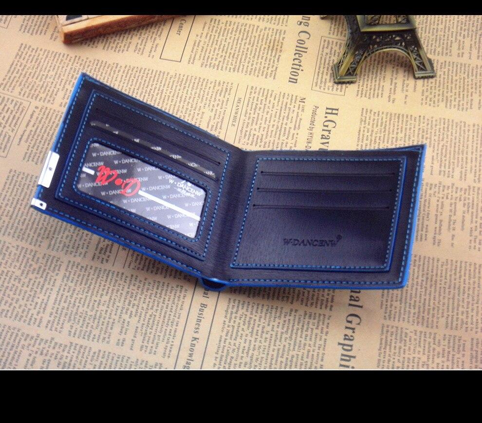 29e42383a1c23 Nowy 2018 BIZNES mężczyźni vintage portfele męskie krótkie portfel męski  pieniądze portmonetki klasyczne soild wzór projektant Miękkie ID Karty  przypadku w ...
