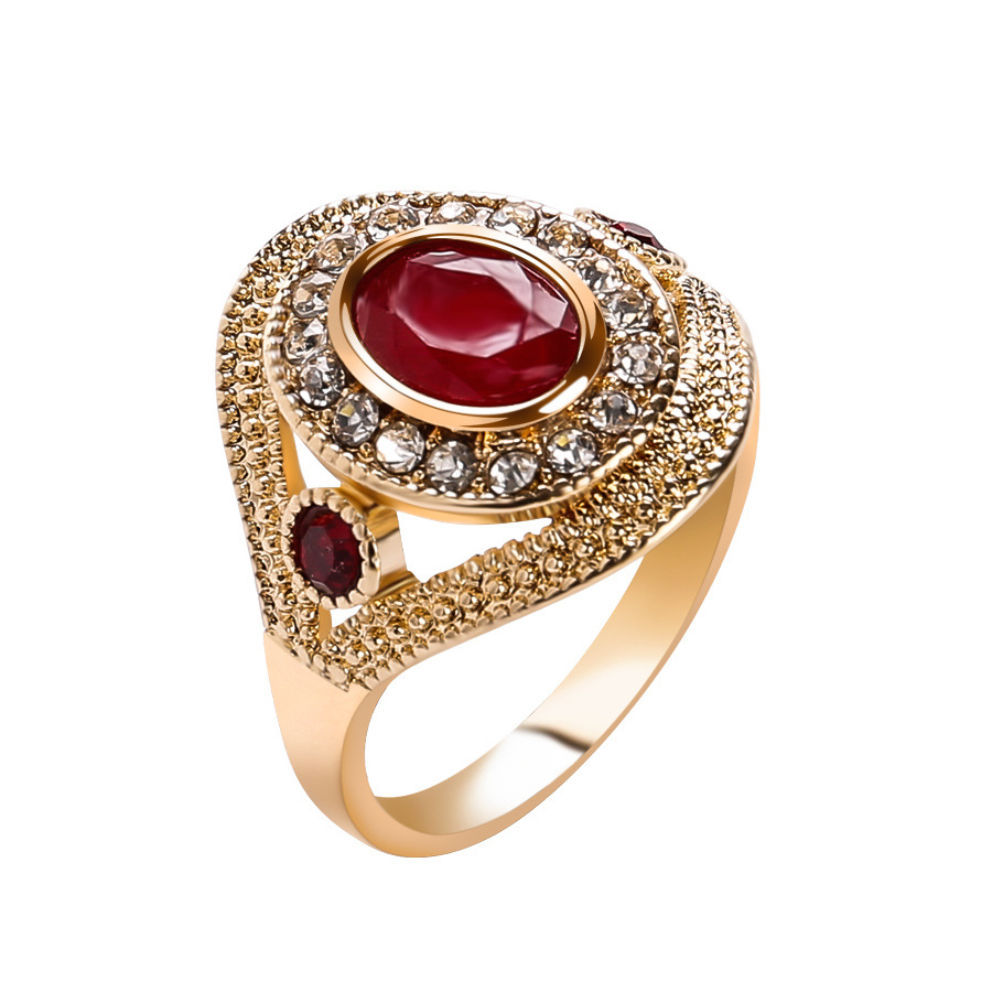 Danze Fashion Women Gold Color Wedding Rings Unique Design Crystal Ringen Jewelry Anillos de acero inoxidable para las mujeres