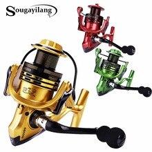 Sougayilang All-metal Body 13+1BB Spinning Fishing Reel EVA Handle Fishing Reels 3 Colors 2000-5000 Series Spinning Reel Wheel