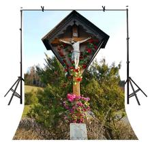 5x7ft Christ Crucifix Backdrop Famous Religious Photography Background and Studio Props