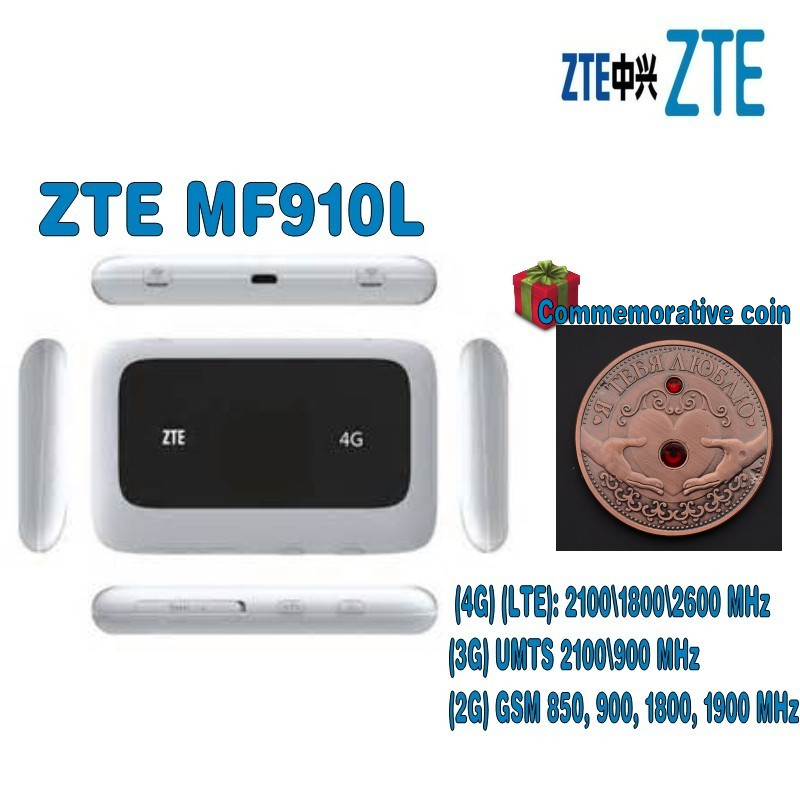Unlocked ZTE MF910L CAT4 150Mbps 4G LTE Wireless Router/Mobile WiFi Hotspot with Free gift(randomly send) zte mf910 mf910v 4g lte mobile wifi wireless pocket hotspot router modem unlocked