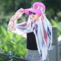 NUEVA Cubierta Visera 360 de Protección Solar Sol Femenina Sombrero de Verano Al Aire Libre gorra de Béisbol de Las Mujeres de Montar TAPA de La Gasa de Cuello de la Cara Protección