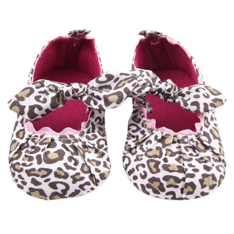 LONSANT First Walker Toddler Kids Baby Girls Leopard Elastic band Bowknot Newborn Shoes baby girl shoes Dropshipping Wholesale