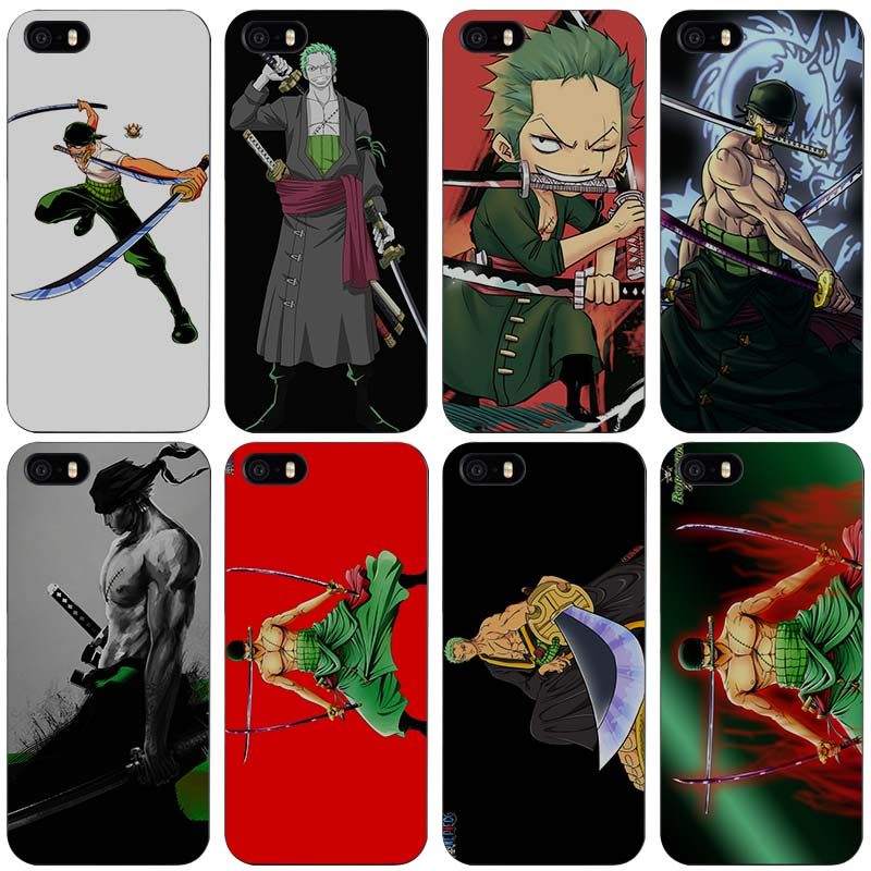 Roronoa Zoro One Piece Black Plastic Case Cover Shell for iPhone Apple 4 4s 5 5s SE 5c 6 6s 7 Plus