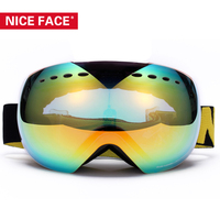 Nice Face Brand Skibril Motocross Esqui Snowboardskiing Paintball Snow Skibrille Sci Gafas Motocross Glasses Goggles