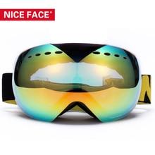 Cara bonita Marca de Calidad Superior Skibril Motocross Paintball Nieve Esqui Snowboardskiing Skibrille Sci Gafas Motocross Gafas Gafas