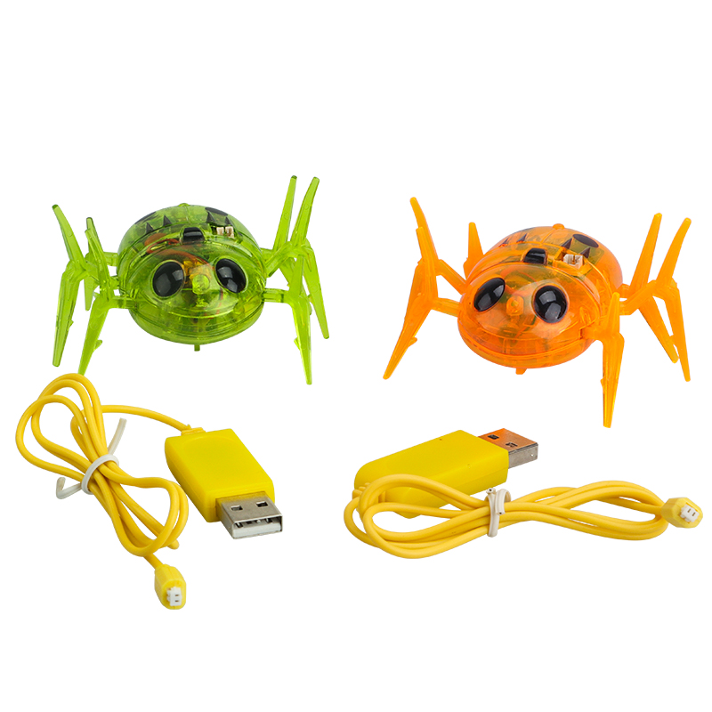 Newest Bug Spider Toy Infrared Sensor Tag Spider Moving Robot Spider USB Charging Cable For Robot Spider Don't Included Toy Gun