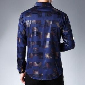 Image 2 - MIACAWOR chemise à manches longues pour hommes, vêtement imprimé, grande taille, style chemises décontractées, C457