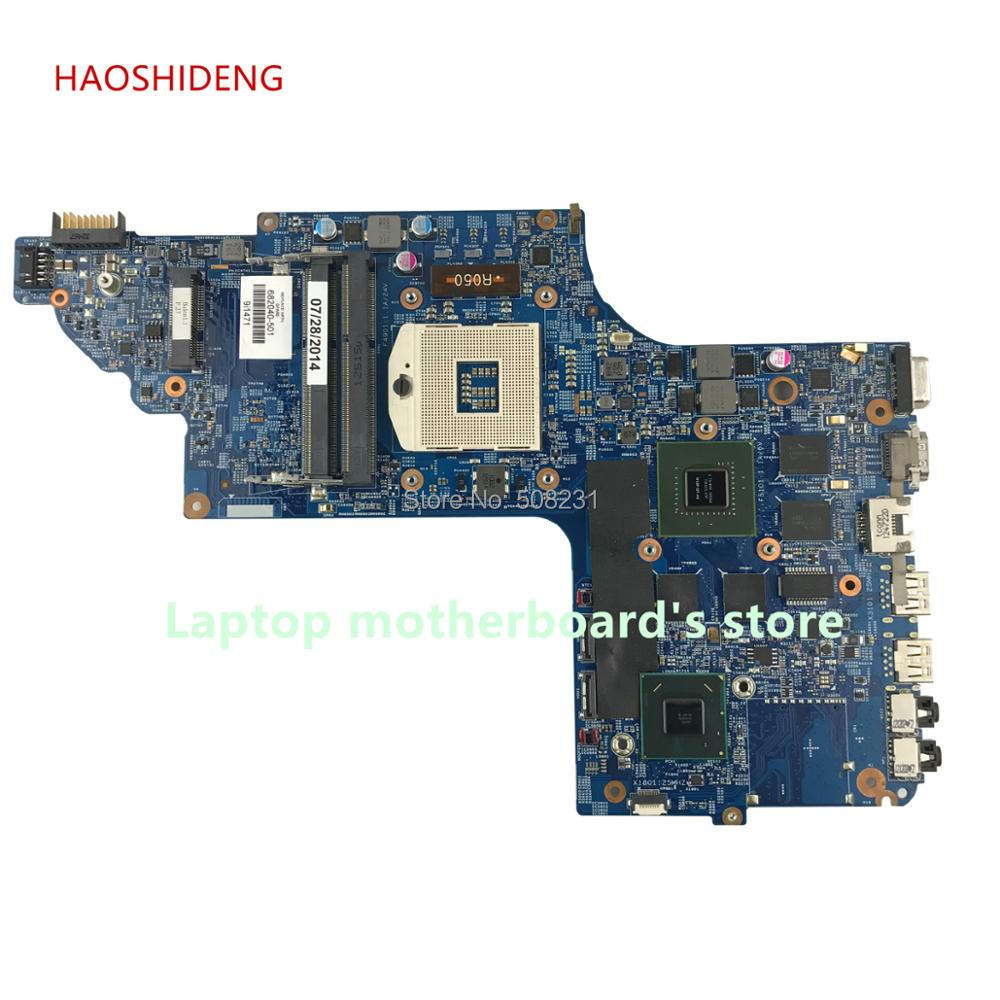 HAOSHIDENG 682040-501 682040-001 mainboard for HP DV7 DV7-7000 laptop motherboard with HM77 650M/2G All functions fully Tested nokotion 682040 501 682040 001 for hp pavilion dv7 dv7t dv7 7000 laptop motherboard 17 inch gt650m 2g graphics