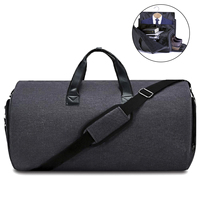 Convertible Garment Suit Travel Duffel Bag, 2 in 1 Carry On Weekender Garment Bag Overnight Suitcase With Shoes Compartment