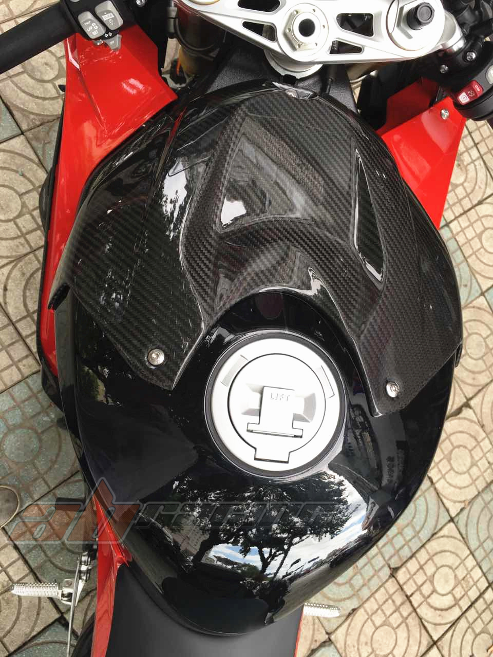 Front Tank Cover For BMW S1000RR 2015 2017 S1000R 2014 2017 Carbon Fiber 100 Twill In Full