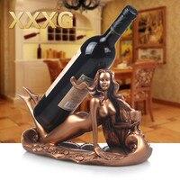 XXXG//idéias do tipo Europa restaurar antigas formas é o cisne prateleira para garrafas de vinho resina vinho rack de sala de estar mobiliário|wine bottle shelves|wine rack|bottle shelf -