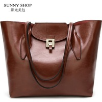 American Style Shoulder Bag 2018 Soft PU Women Leather Handbags Office Large Capacity A4 Ladies Hand Bag Sling Shopper Bag Brand