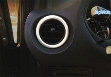 Lapetus Per Mercedes-Benz Vito W447 2014 2015 2016 2017 ABS Chrome Lato Opaco AC Air Vent Autoadesivo Della Decorazione copertura Trim 2 pz