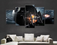 Art Abstract Framed Framed Star Tie Fighter Death Star