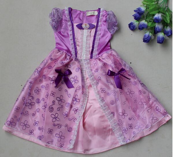 DB23655 Children Girl princess sofia dress-20