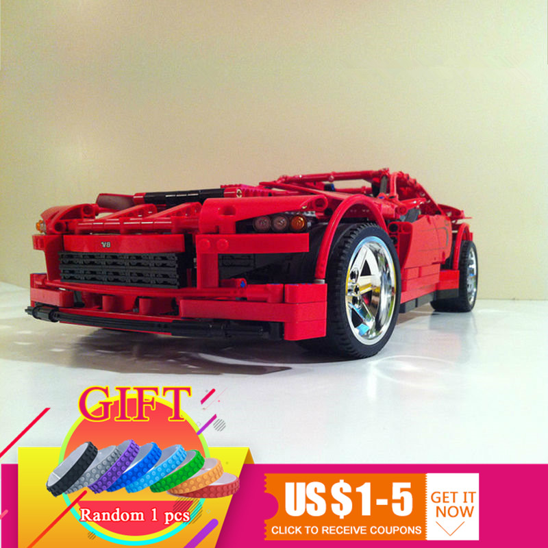 20028 1281PCS Technical series Super Car assembly toy car model DIY building block toy Compatible with 8070 Toys lepin in stock lepin 20028 1281pcs technic series super car assembly toy car model diy brick building block toy gift for boy gift 8070