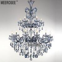 Großhandel Preis Hellblau Maria Theresia Großes Kristallleuchter-licht Kristall Leuchte lüster pendentes 18 Lampen