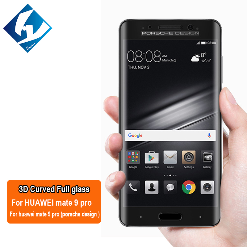 3D Curved For Huawei Mate 9 pro ( Porsche Design ) Full coverage Screen Protector Tempered glass Film Protective