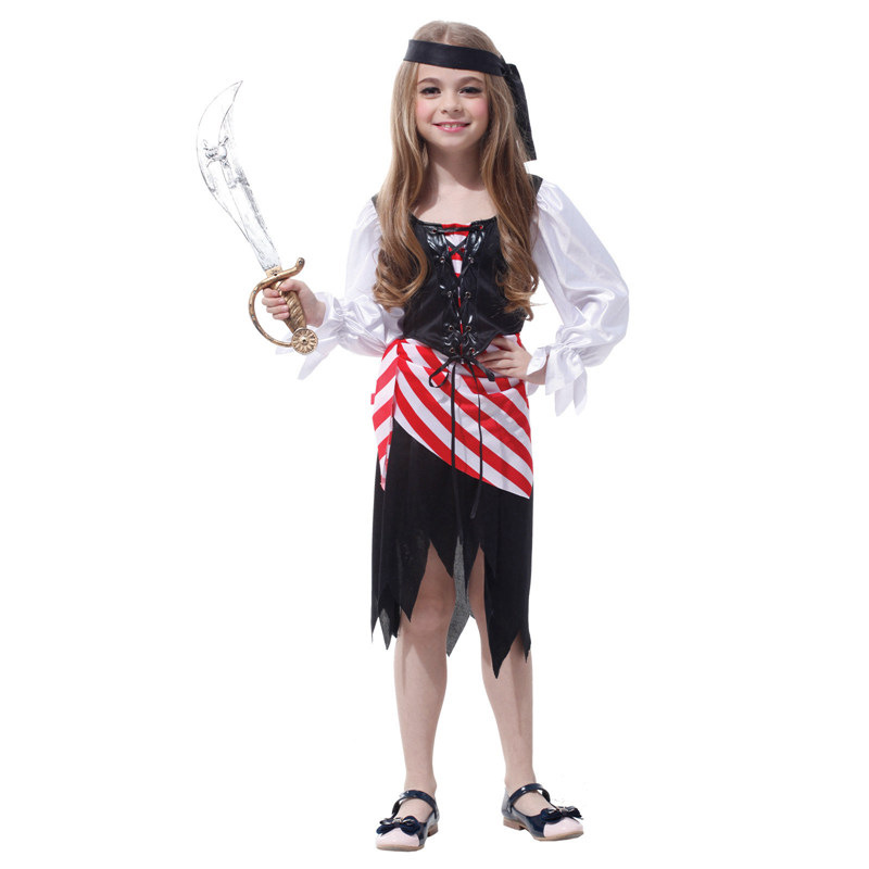 2018 New kids Pirate Costumes Girl Party Dress Halloween Costume Christmas Gift for children Clothes Game Uniforms Free Shipping-in Girls Costumes from ...  sc 1 st  AliExpress.com & 2018 New kids Pirate Costumes Girl Party Dress Halloween Costume ...
