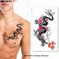 Nu-TATY Spitfire Dragon временная татуировка боди-арт, флеш-тату, наклейка s 17*10 см, водостойкая поддельная татуировка, автомобильная Наклейка на стену - фото