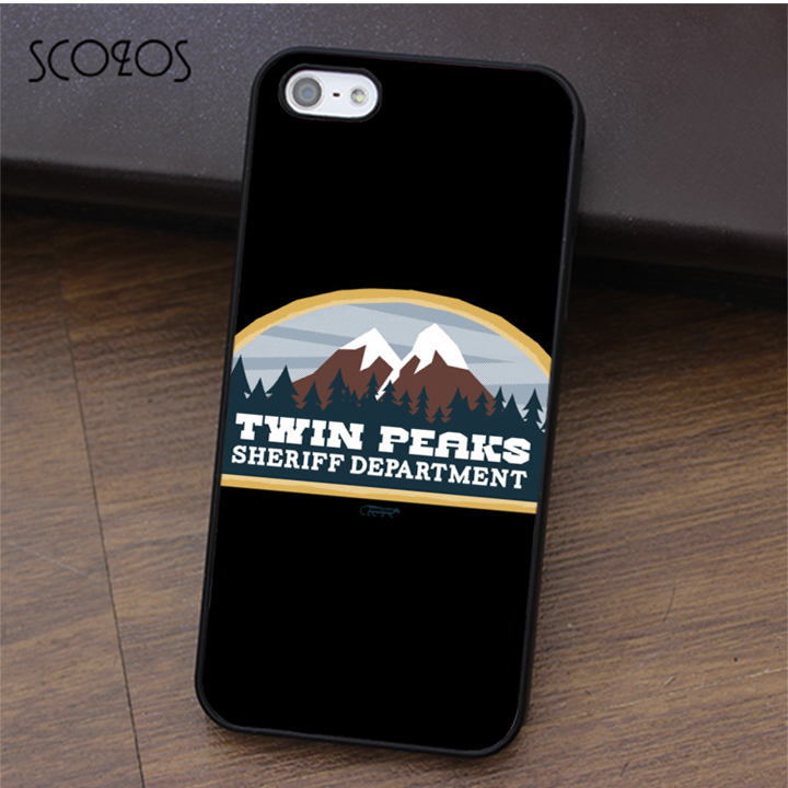 SCOZOS Twin Peaks Sheriff Department fashion phone case for iphone X 4 4s 5 5s Se 5C 6 6s 7 8 6&6s plus 7 plus 8 plus #ca451