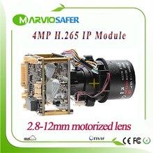 H.265/H.264 4MP 2560*1440 в реальном времени изображения CCTV сети IP Камера модуль 2,8-12 мм моторизованные/ручной зум-объектив, Onvif
