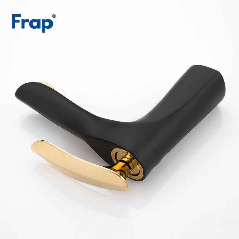 Frap Basin Faucet Bathroom gold handle Black body Faucet Painting Finish Basin Sink Tap Mixer Hot & Cold Water Faucet Y10057