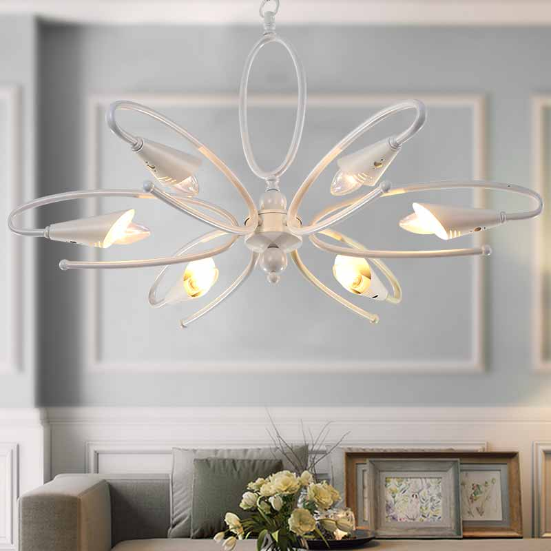 US $114.0 |Modern Chandelier for Living Room Bedroom Hanging Iron White  Chandelier Art Deco Style-in Chandeliers from Lights & Lighting on ...