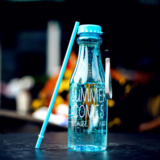 Transparent Colorful Water Bottle