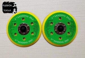 "Image 5 - 2 Pieces 150mm 6 Hole Sanding Pad 6"" Polishing Disc 6 Hole Polishing Plate 6 inch Grinding Disc Screw Thread M8"