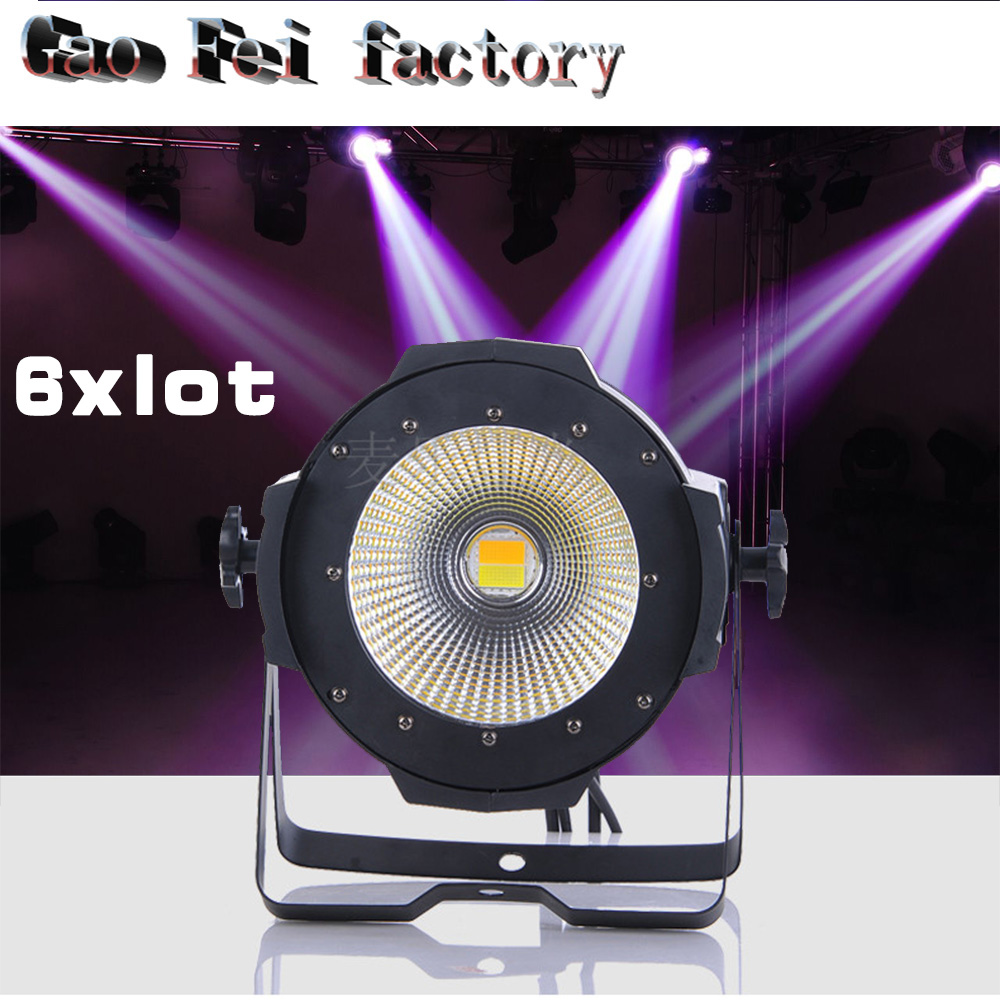 все цены на 6pcs/lot 100w COB LED PAR DMX 512 control 100W led COB par dmx stage light онлайн