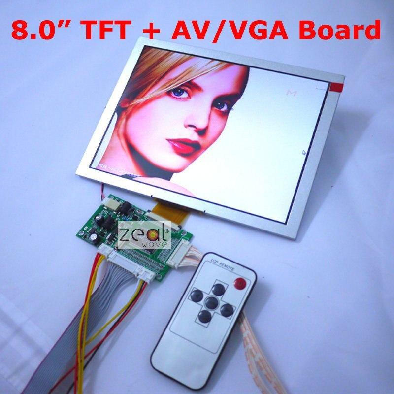 100% New 8 8inch AT080TN52 TFT LCD Module + VGA / Dual AV 2AV Input Driving Board 800 x 600 Dots 50Pins Free Shipping vga 2av revering driver board 8inch 800 600 lcd panel ej080na 05b at080tn52 page 5