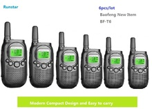 New hot item 6pcs BF-T6 baofeng two way radio portable walkie talkie CB Radio station Kids Handheld Communicator ham