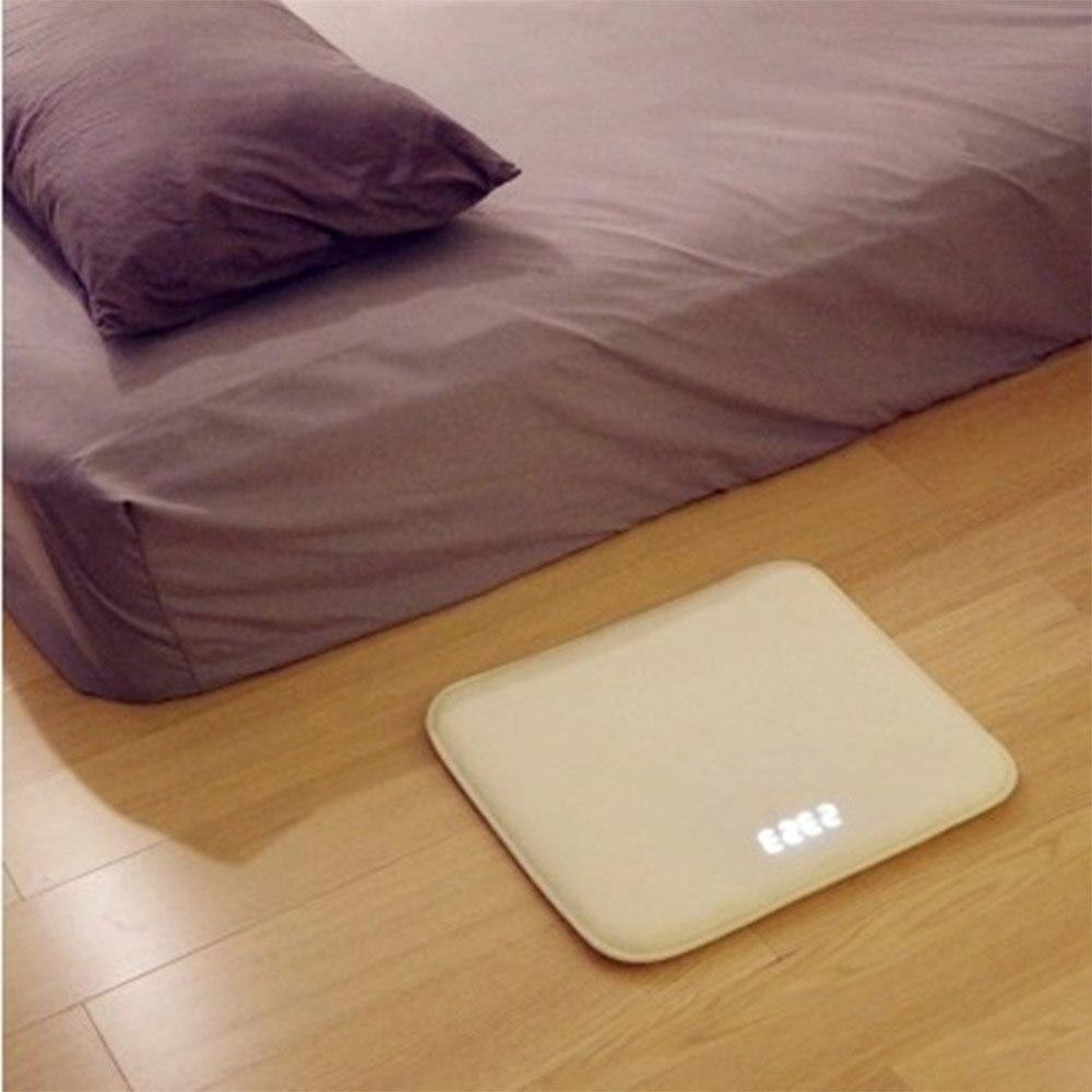 Réveil intelligent tapis électronique horloge numérique toucher musique tapis horloge col blanc étudiant paresseux alarme cloche