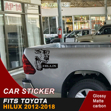 free shipping  wolf car sticker 4x4 off road vinyl graphics for toyota hilux revo and vigo