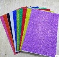 Free Shipping 10pcs Bag 2mm Thickness Craft Punches Child Sticker Single Sided Adhesive Glitter Eva Foam