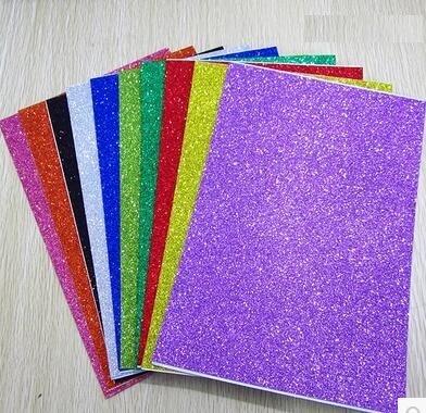 Free shipping 10pcs/bag 2mm thickness craft punches child sticker single-sided adhesive glitter eva foam sheet/eva sponge single sided blue ccs foam pad by presta