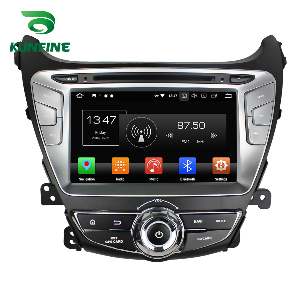 Octa Núcleo 4 gb de RAM Android 8.0 Car DVD GPS Navigation Multimedia Player Som Do Carro para HYUNDAI Elantra 2014 Rádio rádio WI-FI