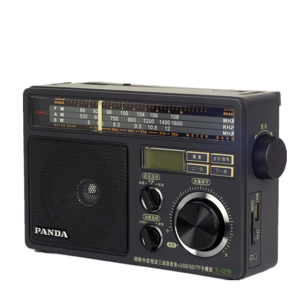 Panda T-09 u disco/TF FM/onda media/onda corta de tres bandas Radios